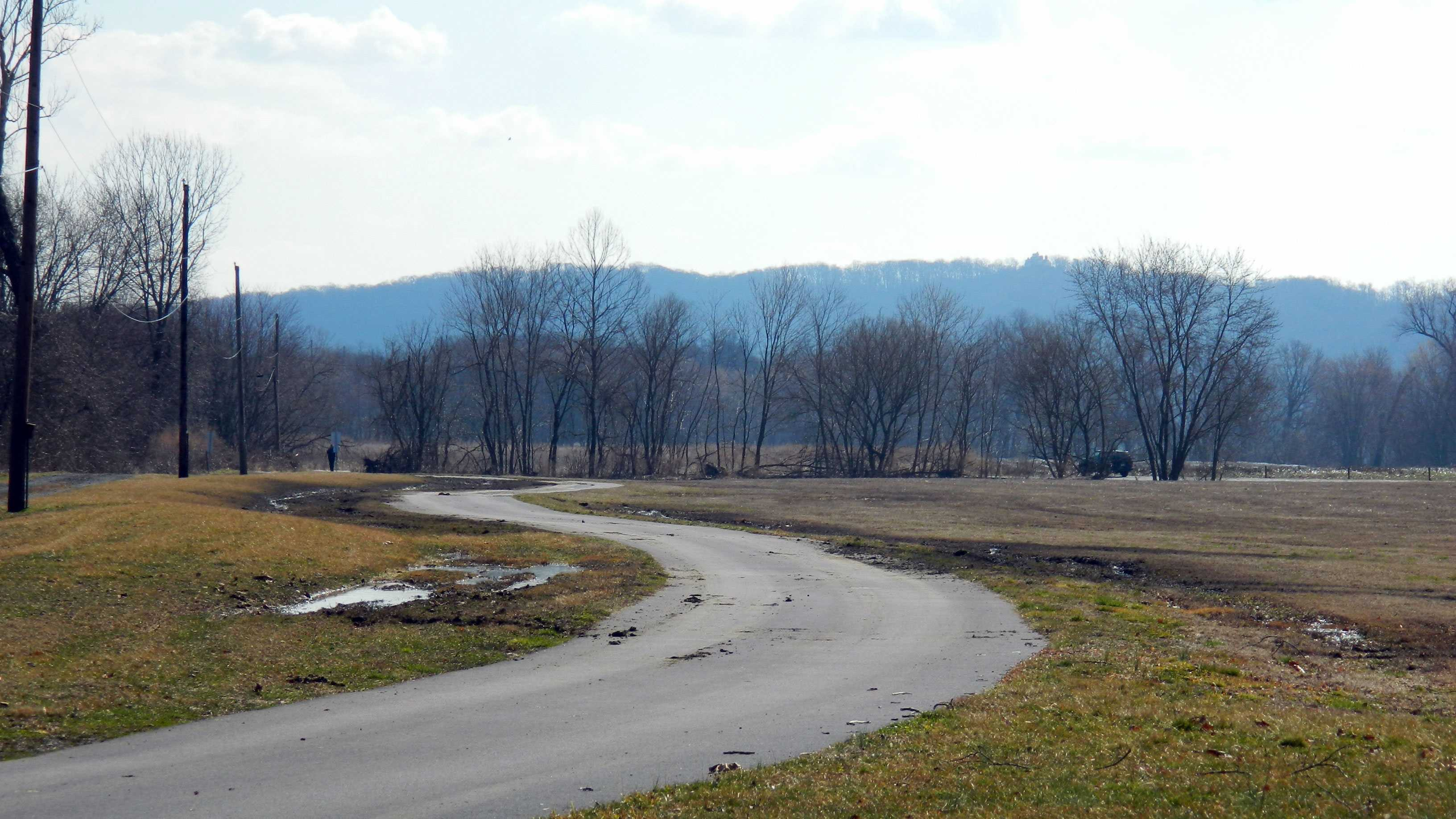 They drove their vehicles on the grass, causing extensive ruts and deep tire tracks, Susquehanna Regional Police said.