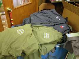 The company is making caps, mugs, T-shirts and sweatshirts.