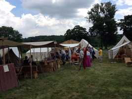 A Confederate field hospital has been set up along Route 116 in Straban Township, Adams County.