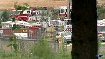 About 150 firefighters from three counties responded.
