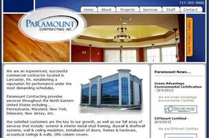Paramount Contracting, Inc., Lancaster, Lancaster County.
