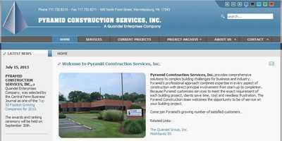 Pyramid Construction Services, Inc.,Wormleysburg, Cumberland County.