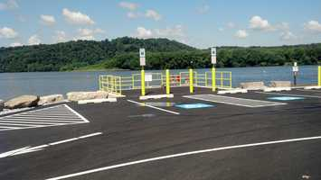 For the first time, there is a handicap accessible fishing dock.
