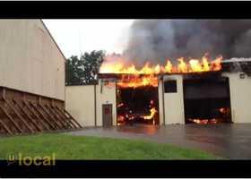 A u local member captured video of the fire.