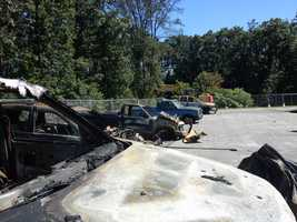 Personal vehicles of township workers were also destroyed.