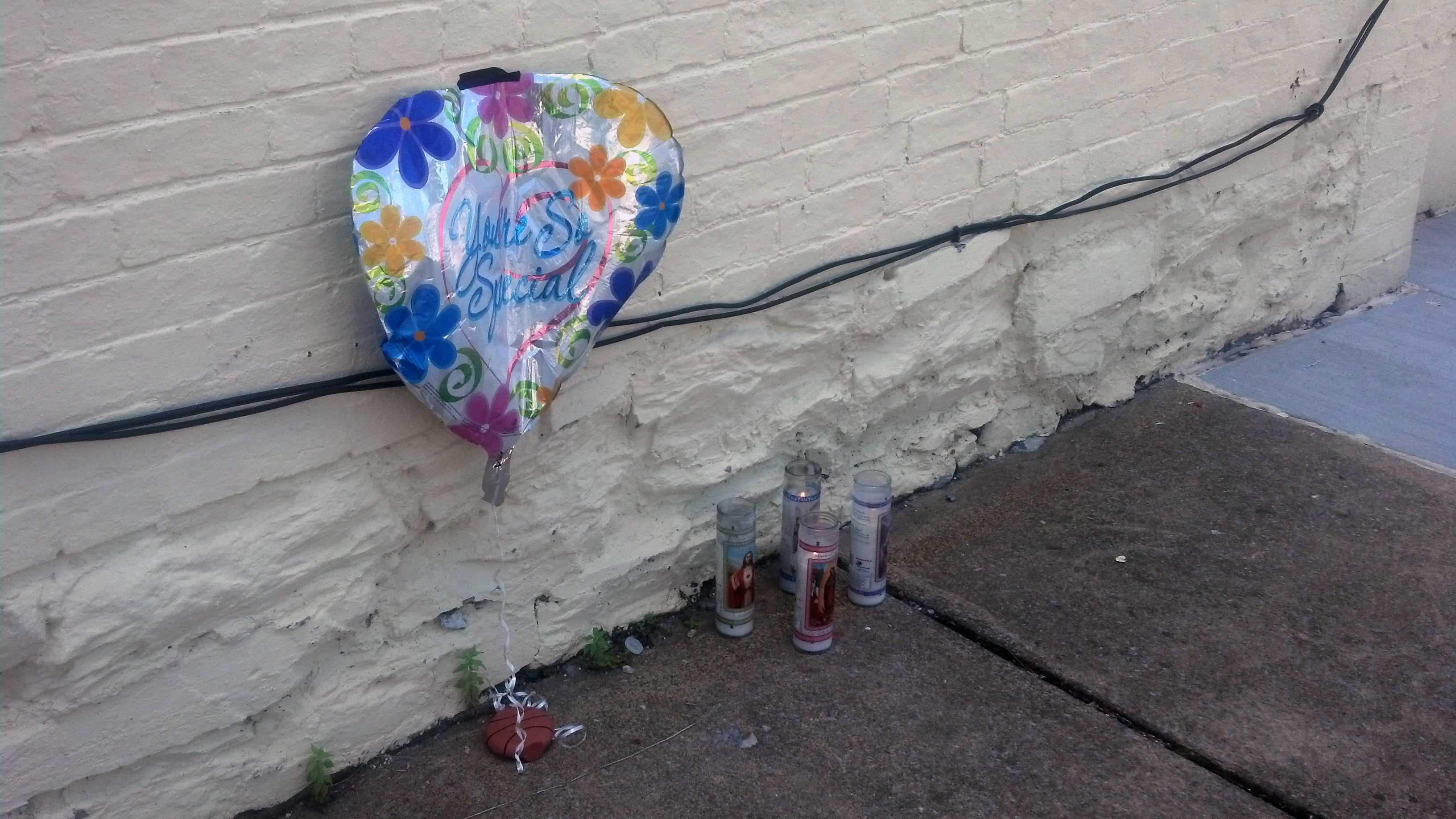 This is a memorial to the shooting victim.