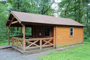 The cottages have a porch, picnic table and fire ring as well as electric heat, lights and outlets.