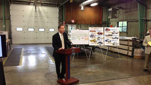 Transportation Secretary Barry Schochtalks to the media Thursday morning.