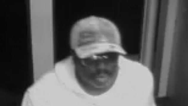 Police released this surveillance camera image of the man accused in the theft.