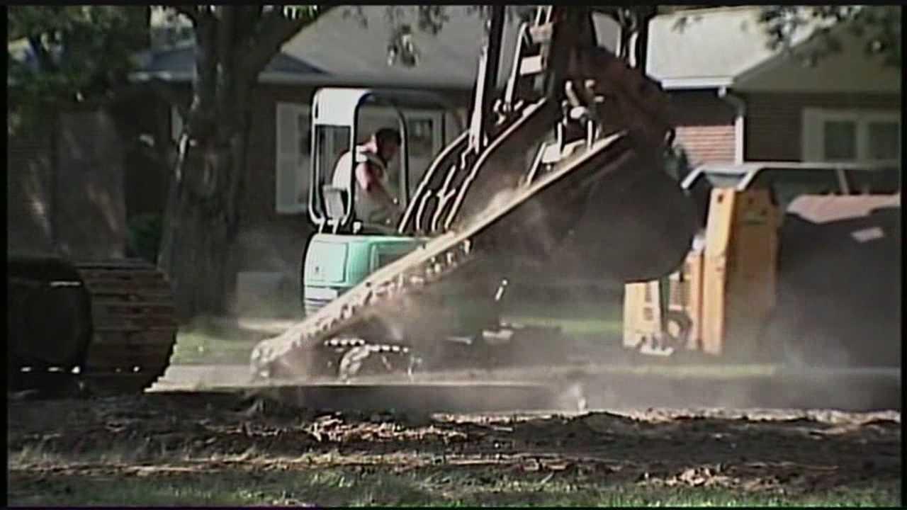 flood home demolished