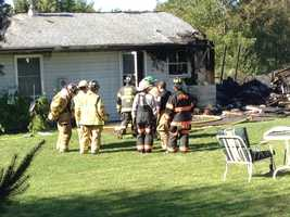 The fire happened at a single-story home along West Siddonsburg Road.
