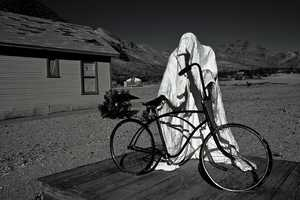 """2. Here's a ghost so real you can actually reach out and touch it. It's the """"Ghost Rider at the Goldwell Open Air Museum in Rhyolite, Nevada."""""""