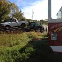 Tuesday, Oct. 8: A pickup truck driver was not injured Tuesday morning when his vehicle was struck by a train near Spring Grove, according to police. The York Rail Co. train struck the pickup as it crossed tracks at Ambau Road near Route 116 in North Codorus Township, police said. The truck driver, John Brenneman, was cited for failure to yield to the train. He did not slow down, thinking he could beat the train, police said. Brenneman hit the brakes when he realized he would not make it, they said. The pickup suffered front-end damage.