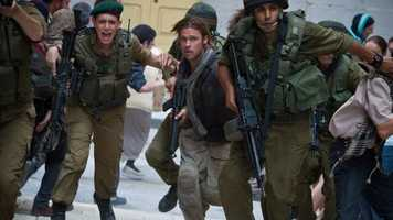 World War Z - here's another recent film. This Brad Pitt zombie invasion flick came out in the summer of 2013.