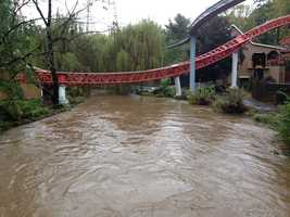 High water at HersheyPark.