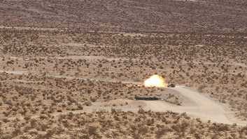 32. Tank Crews of the 1st Squadron, 11th Armored Cavalry Regiment conducted Crew Gunnery Skills Test at Fort Irwin Calif., Nov 28. Tank crews are scored on accuracy, speed, and technique-such as issuing the proper fire commands and proper driving techniques.