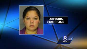 Thursday, Oct. 31: A Jonestown woman has been charged with leaving an 8-month-old boy alone in a vehicle for about 2 hours and 45 minutes over the summer, according to Lebanon County officials. Damaris Manrique, 37, is accused of leaving the child in her vehicle in the 300 block of North Fifth Street in Lebanon in July, officials said. The boy suffered brain damage, blindness, deafness and other disabilities as a result, officials said. Manrique is charged with aggravated assault, endangering the welfare of children and simple assault, officials said. She is in Lebanon County Prison with bail set at $100,000.