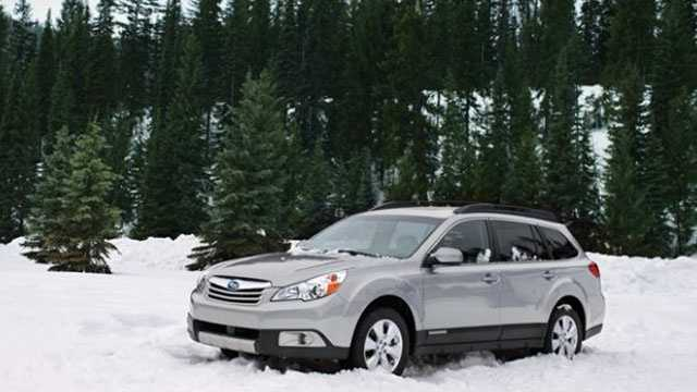 Subaru Outback in snow