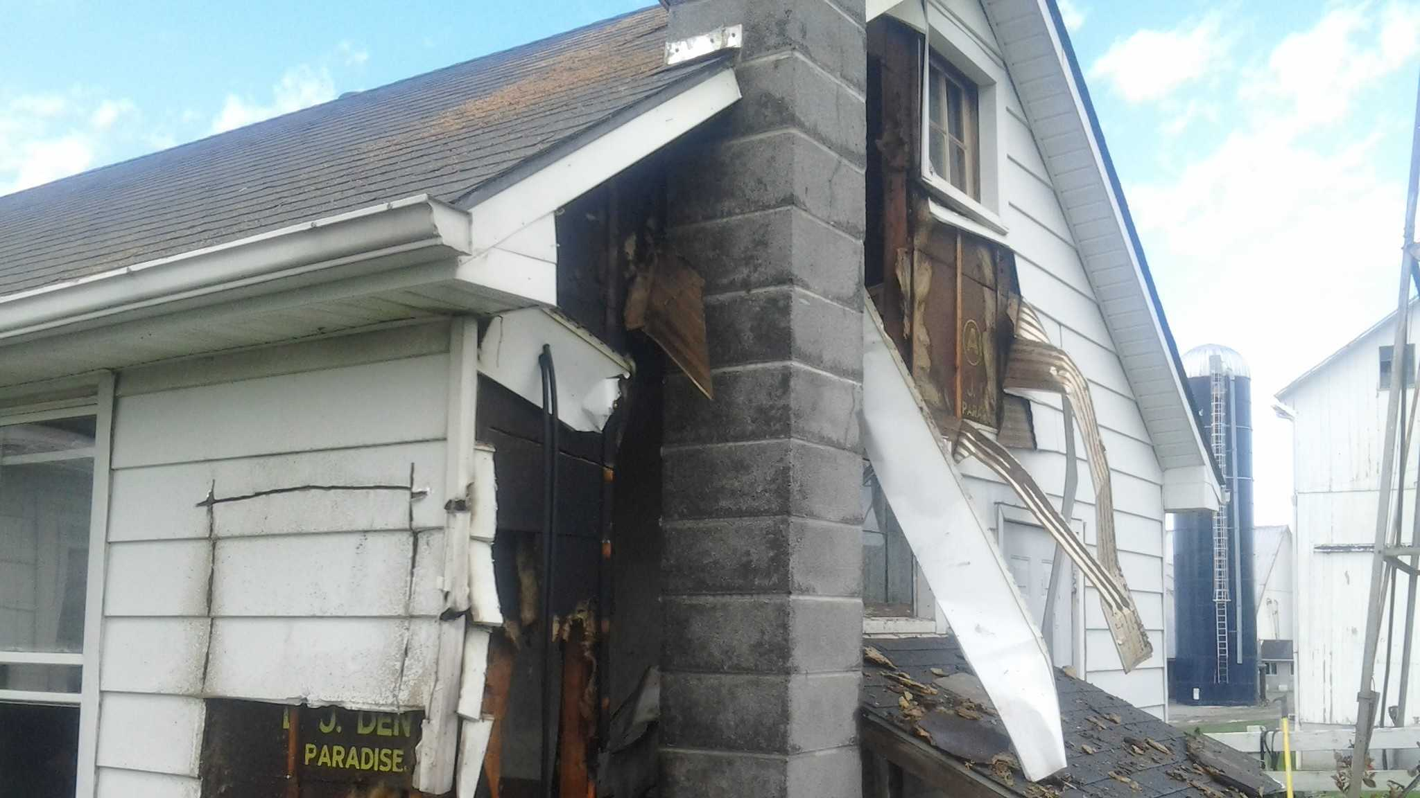 Residents of the home in the 100 block of North Star Road were cooking potato chips when the fire broke out in a wall.