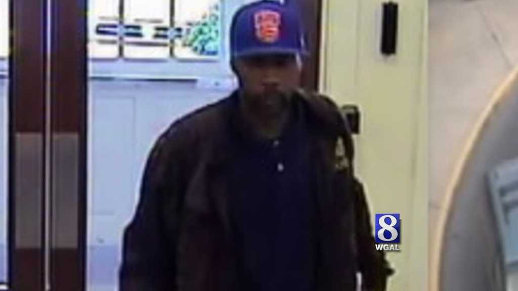 Police released this surveillance photo from the bank robbery.