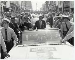 Then Senator John F. Kennedy paid a visit to Lancaster on Sept. 16, 1960. It was a campaign stop for the future president.