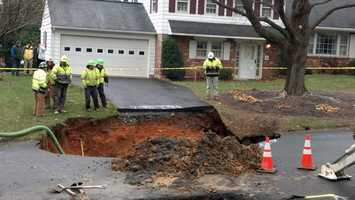 Officials with Pennsylvania American Water said after the utility lines are fixed the road will be temporarily patched due to weather conditions, and a permanent patch will be put on the road when conditions improve.