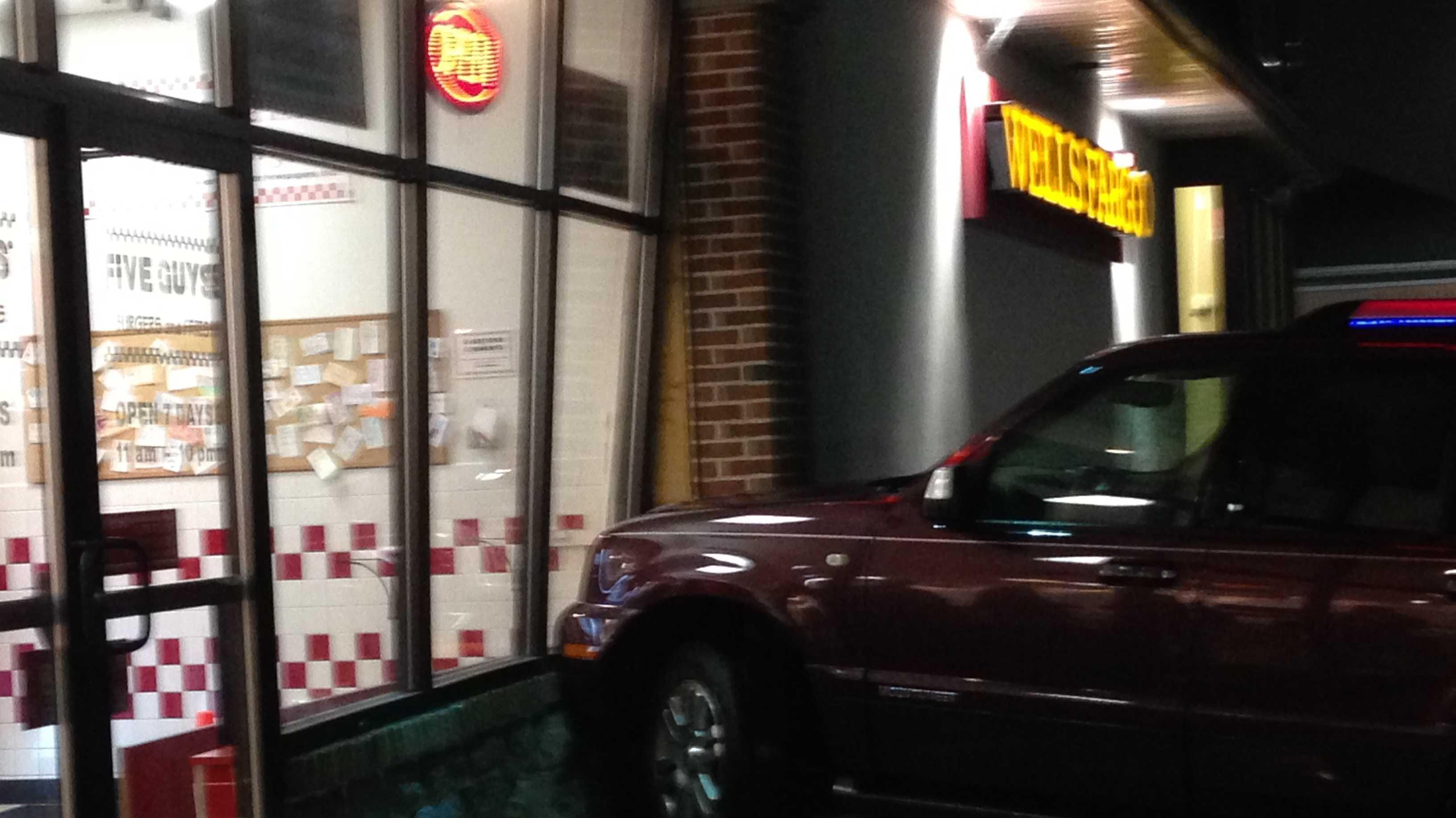 Car v restaurant