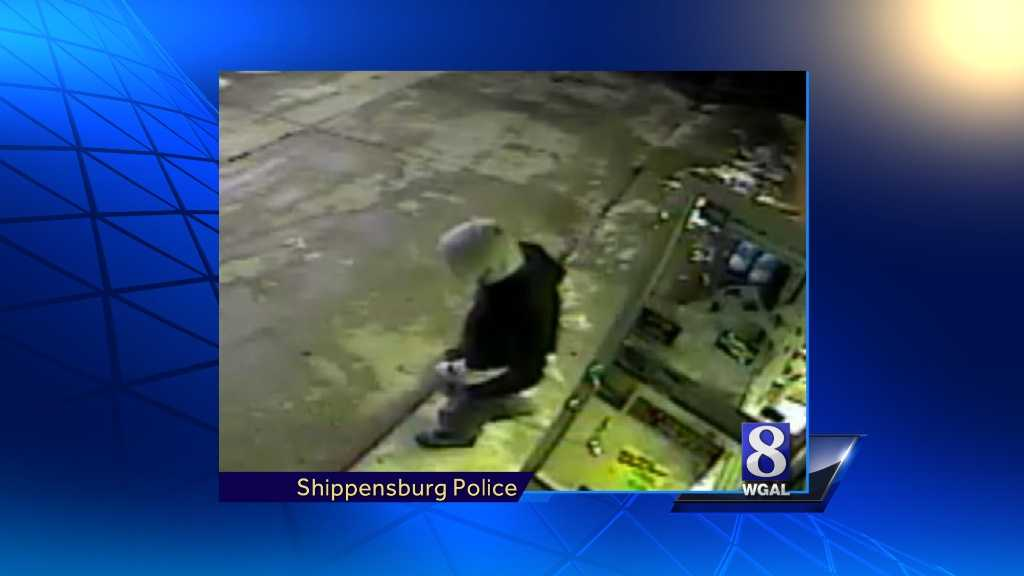 Police released this surveillance camera image of the man accused in the robbery.