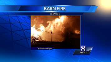 The fire started around 10 p.m. on East Evergreen Road, just outside the city of Lebanon.