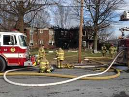 Crews battled an apartment fire in Ephrata, Lancaster County, on Friday.