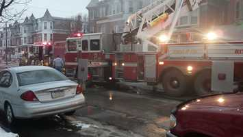 Two buildings were affected.