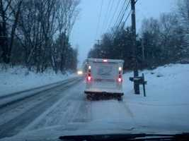 A mail carrier out doing his job Tuesday. This photo was snapped along Fruitville Pike in Lancaster County.