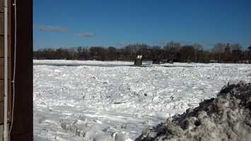 An icy Susquehanna Wednesday at 11 a.m. This photo was taken from Wormleysburg.