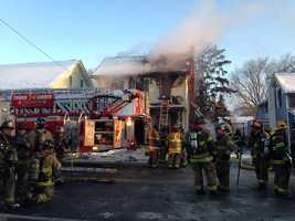 Crews responded to a fire in Mount Joy, Lancaster County, Thursday morning.