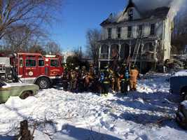 About two dozen units were called to the fire, including several water tankers.