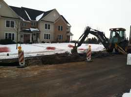Bethel Drive was temporarily closed. Crews expected to have it back open by the end of Friday.