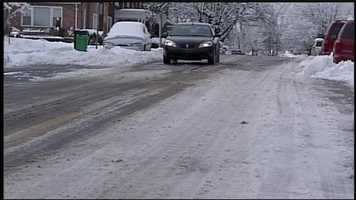 Streets were relatively clear in Springettsbury Township, York County on Tuesday morning.