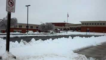 Another snow day at Solanco High School, Wednesday morning.