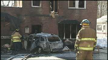 Utz says the section of the building hit by the car was an apartment and that no one was home at the time.