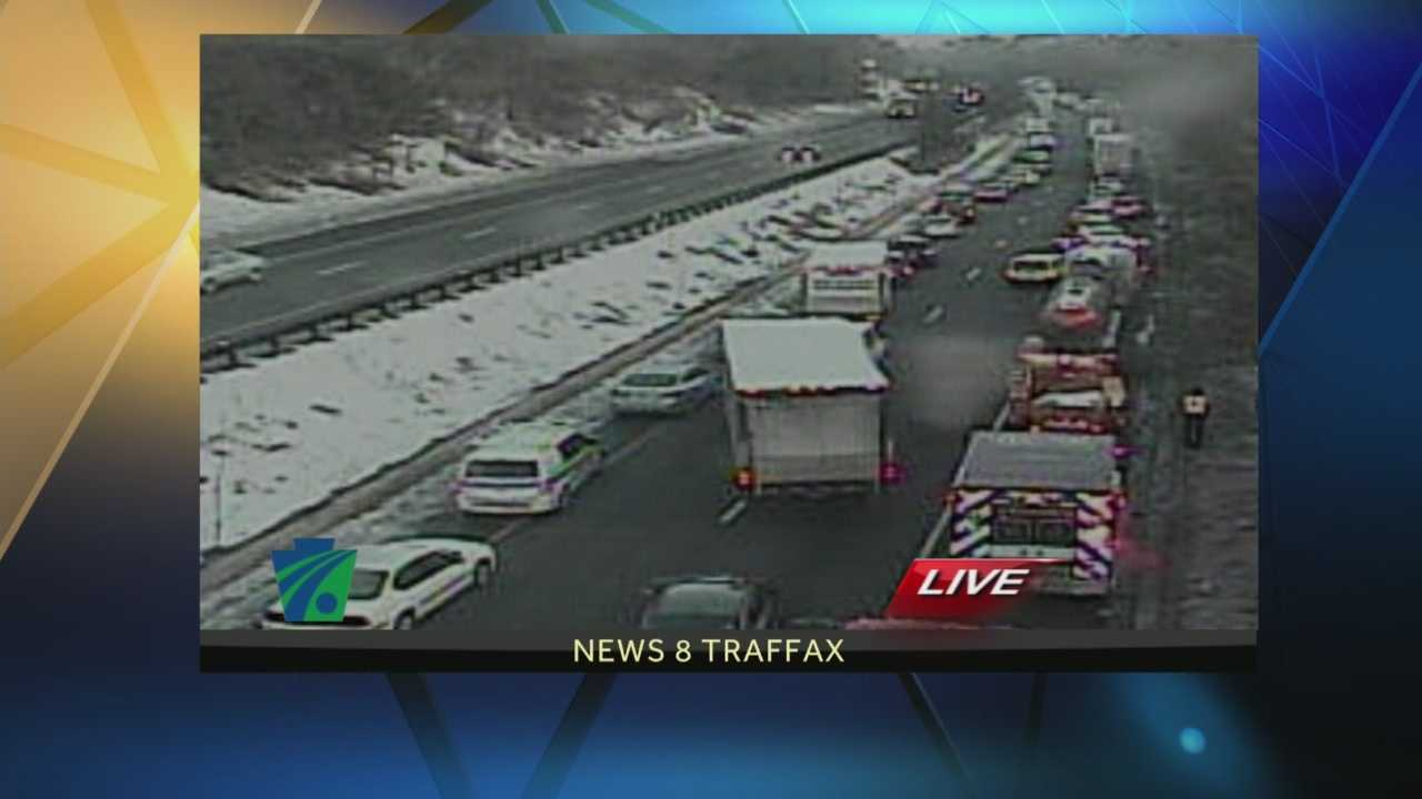 News 8 Today 2.19.14 Box truck crash causes delays on I-476