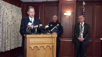 Lancaster County District Attorney Craig Stedman announces that a December, 2013 shooting involving a Lititz police officer was justified.