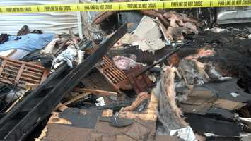 Some medical oxygen tanks that Scott used exploded, but it's not clear whether that happened before or during the fire.