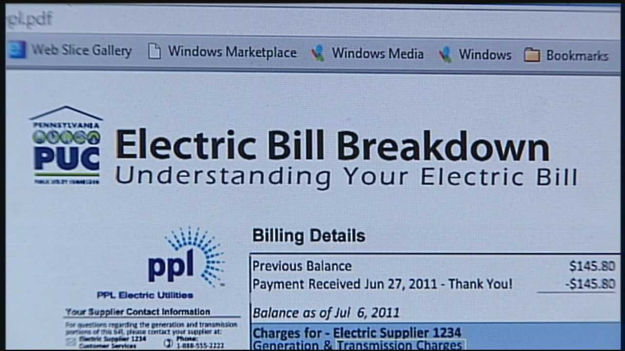 Electric bill breakdown 3.17.14