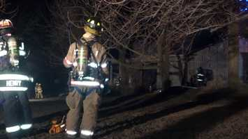 Fire destroyed a detached garage and the vehicles inside on Tuesday morning in Rapho Township, Lancaster County.