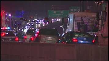 Officials believe slick conditions and ice may have caused the accidents.