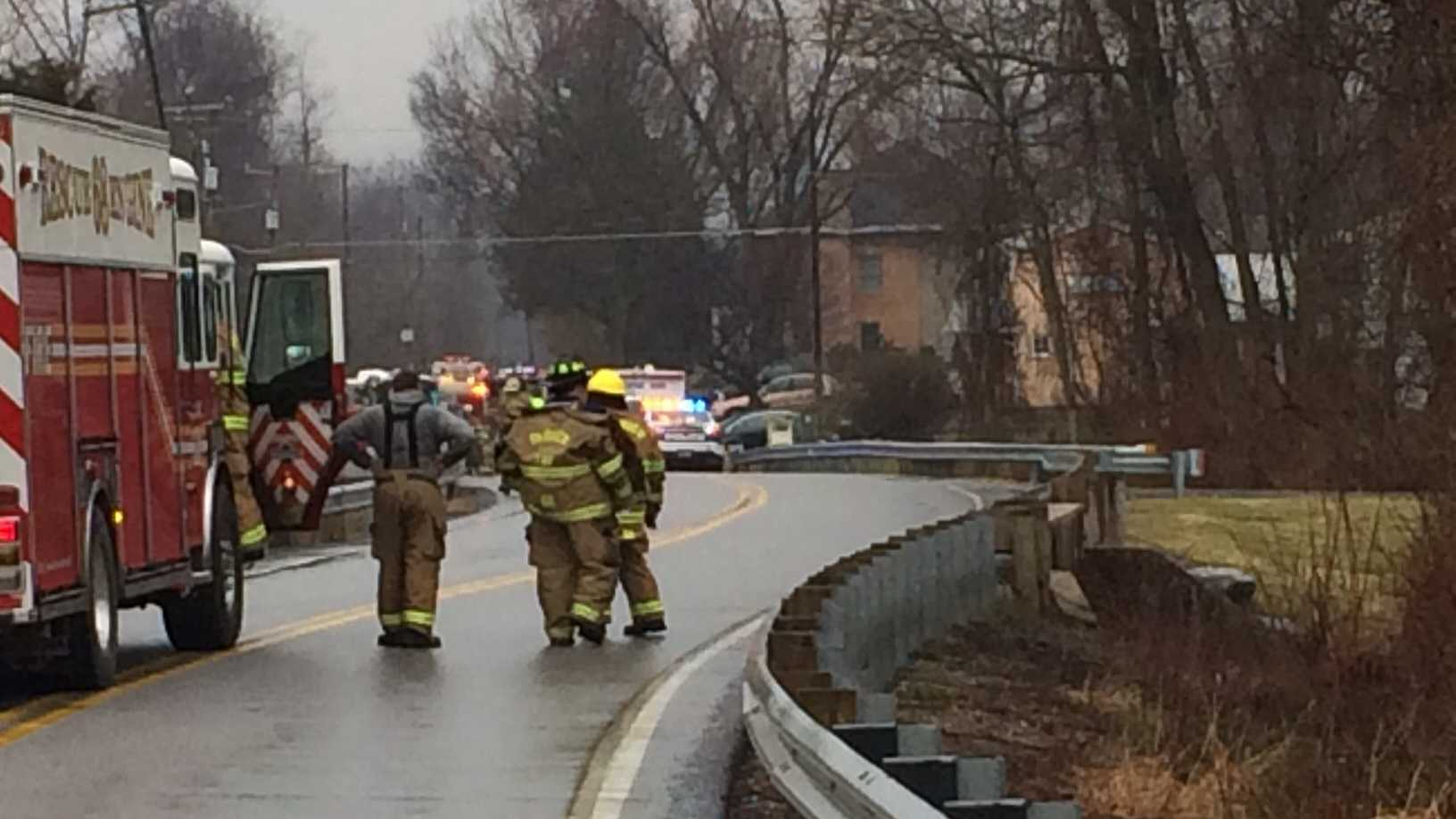 Crews fought a fire in Fairview Township, York County early Wednesday morning.