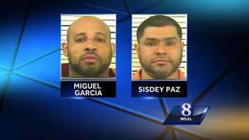 Police have arrested Miguel Garcia and Sisdey Paz in connection with the drug bust.
