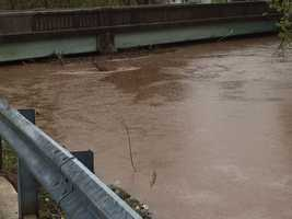 News 8's Ed Weinstock snapped this and the following photos of the Route 74 bridge over the Little Conewago Creek in Dover Township, York County, on Wednesday morning.