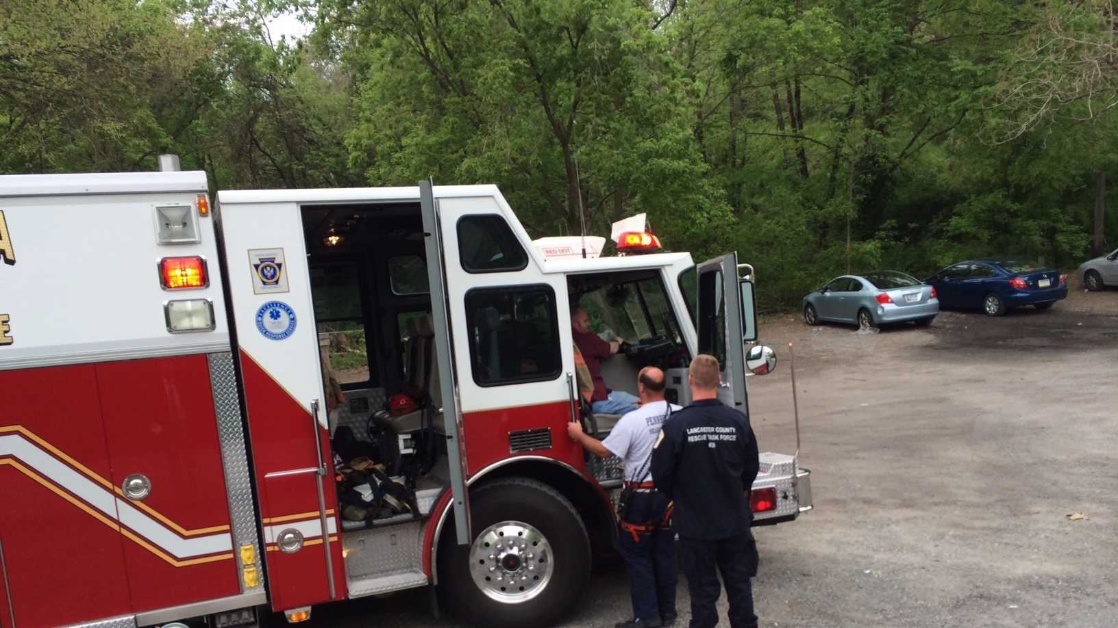 Park rangers say a man hiking in a non-sanctioned trail area fell over 40 feet when the ground gave-way beneath him.
