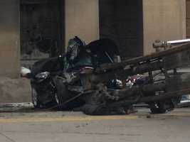 A dump truck and car were involved in a serious crash at Cameron and Berry Hill streets in Harrisburg Monday afternoon.